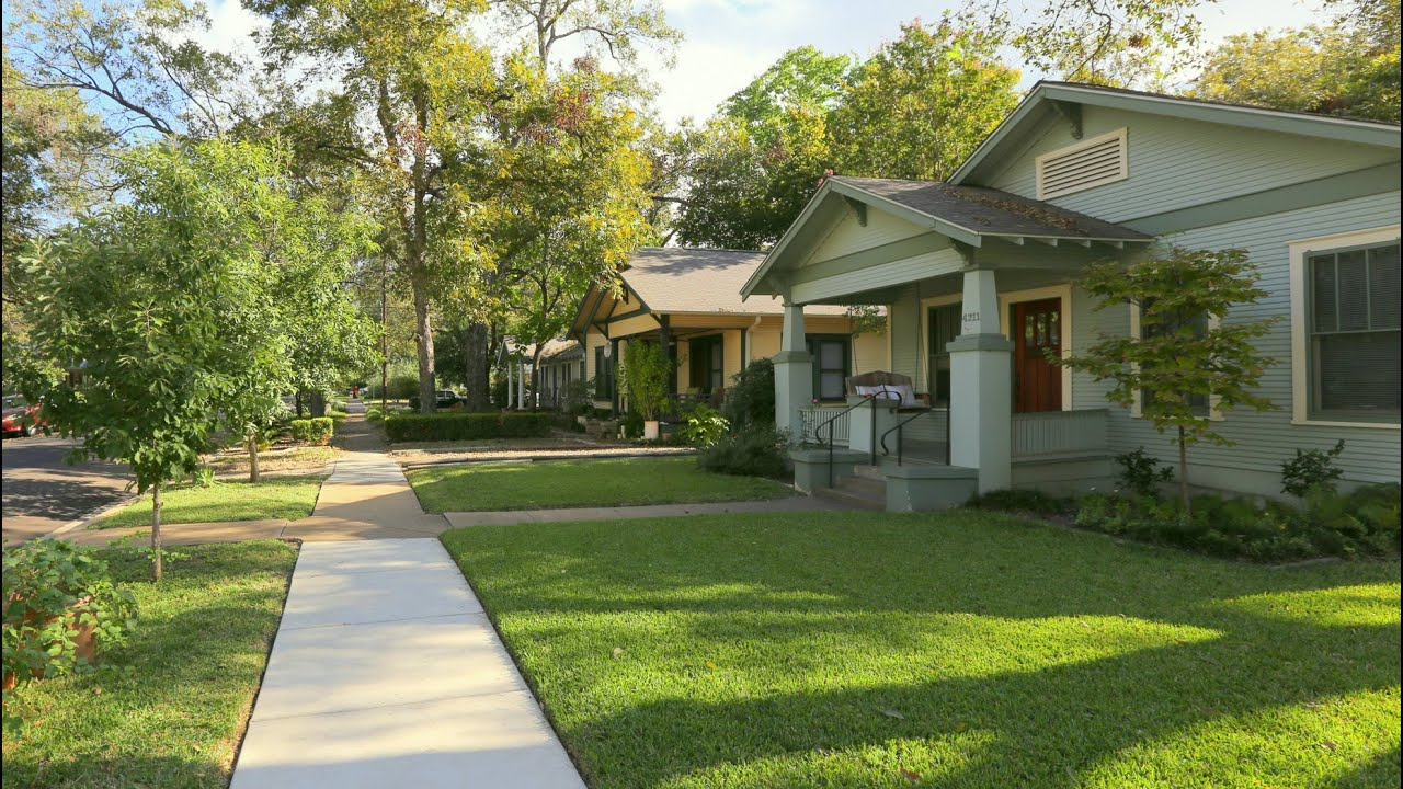 Texas Ranch Homes Hyde Park Austin Neighborhood Virtual Tour Youtube