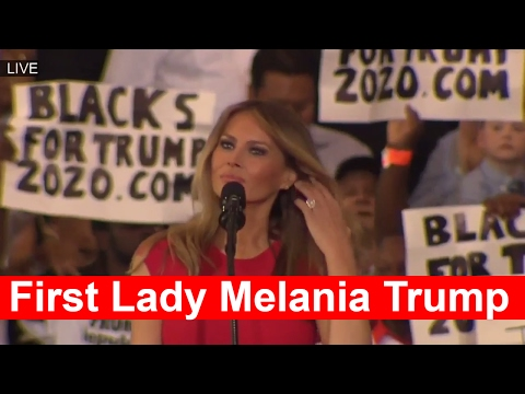 First Lady MELANIA TRUMP Prays and Give a WONDERFUL SPEECH at President Donald Trump Rally Melbourne