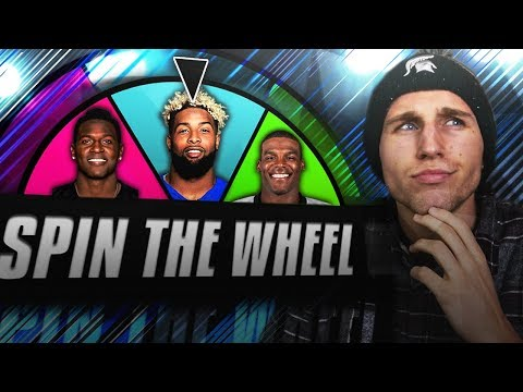 SPIN THE WHEEL OF NFL PLAYERS! Madden 18
