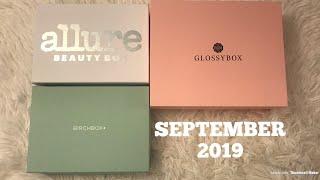 Allure vs Birchbox vs Glossybox | Beauty Subscription Boxes | September 2019