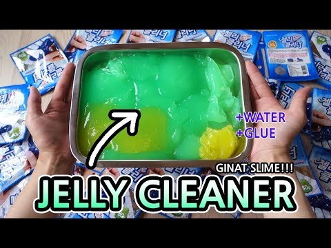 DIY Making Giant Jelly Cleaner Slime