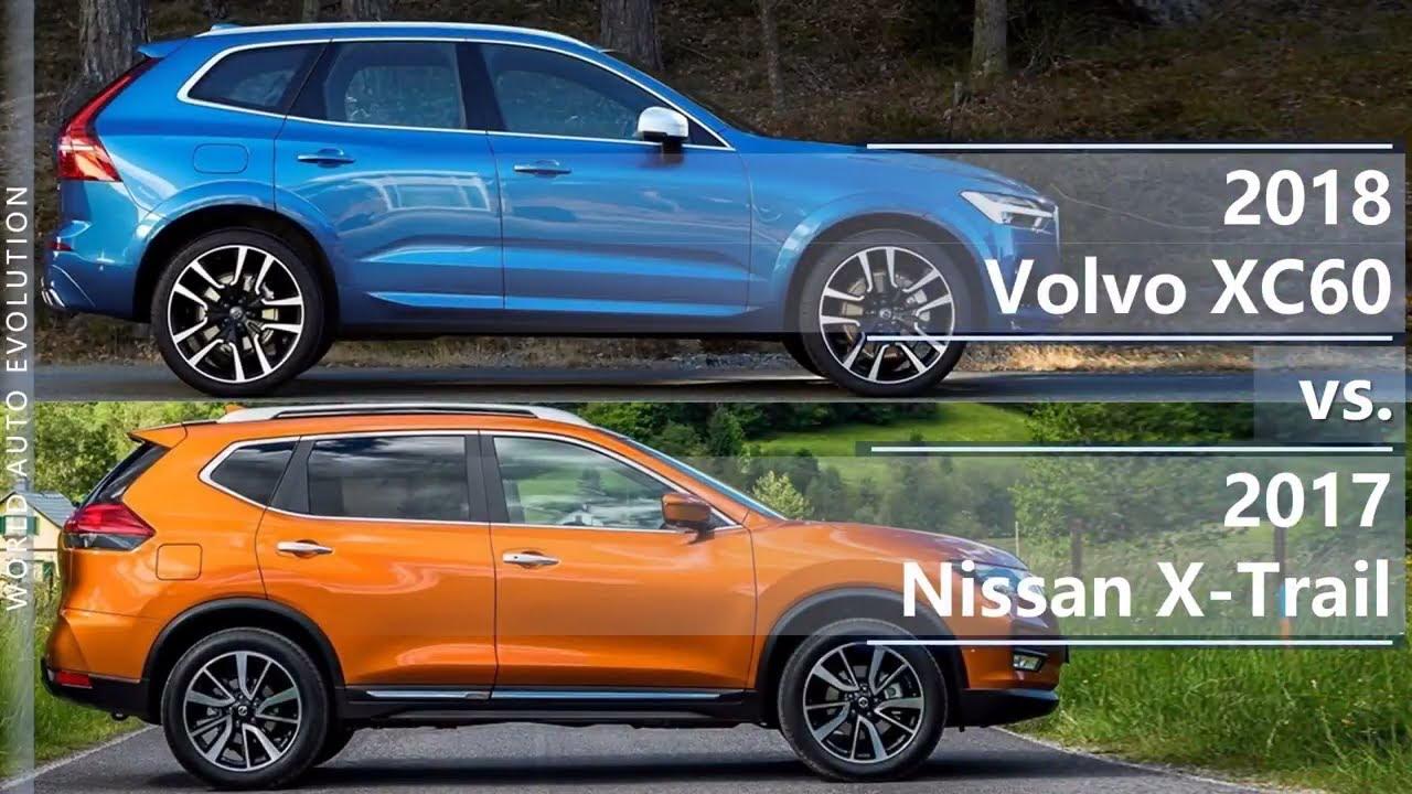 2018 Volvo XC60 vs 2017 Nissan X-Trail (technical ...