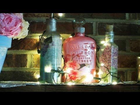 How To Liquor Bottle Upcycle Decoupage Mouthwash Bottles Youtube