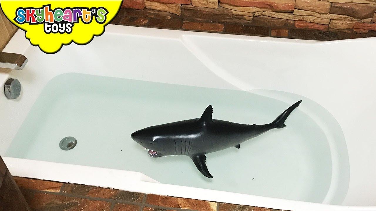 Baby Shark Attack In Bathtub Kids Playtime Battle Wit