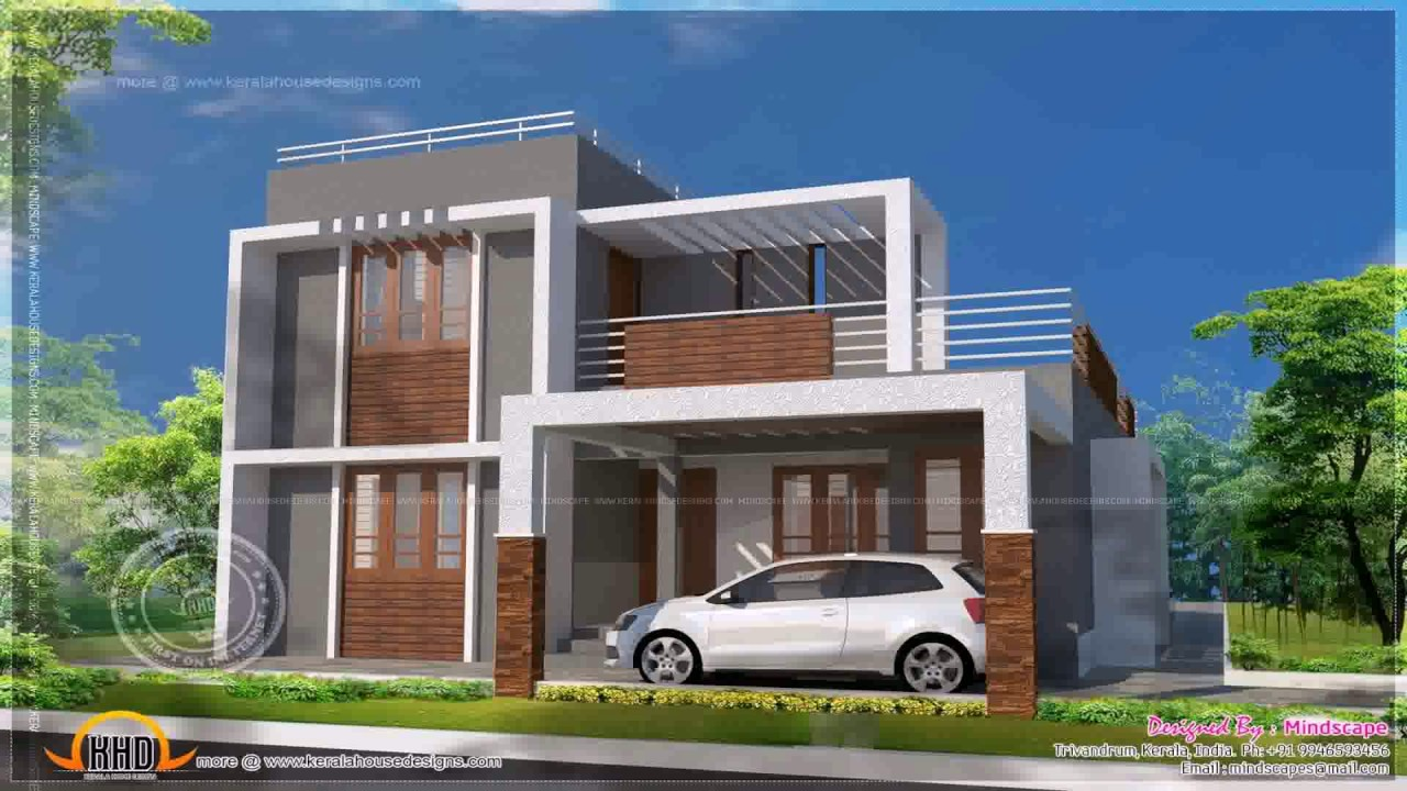 Indian style small house plans youtube for Modern house designs and floor plans in india