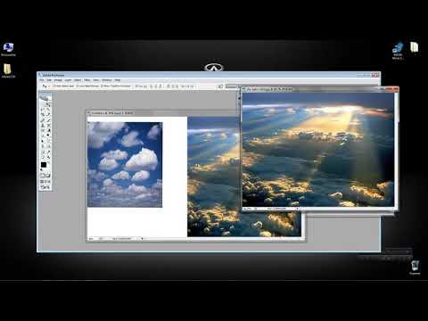 Как склеивать и соединять два изображения фотографии картинки в одну единую через Adobe Photoshop