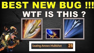 Best BUG Ever - WTF ? [ Searing Arrow Multishot + Marksmanship (Aghanim) ]   Dota 2 Ability Draft