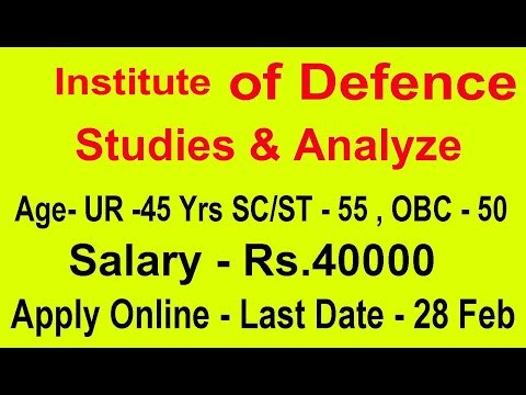 Latest govt Job Defence Study & Analyze Center Governments jobs