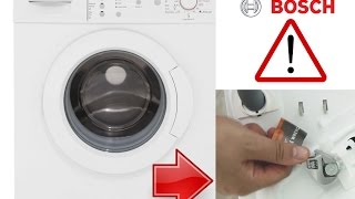 bosch serie 4 washing machine installation remove bolts before 1st use