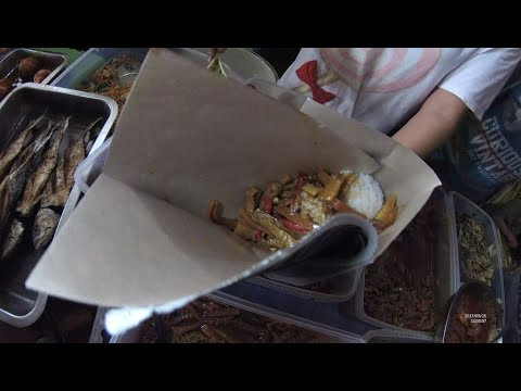 GJ Street Food 1641 Part.1 Chicken Young Corn Rice Nasi Sayur Soleng  Ayam Pasar Cimenk Lampung