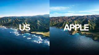 We Recreated Apple's MacOS Big Sur Wallpaper with a Helicopter!