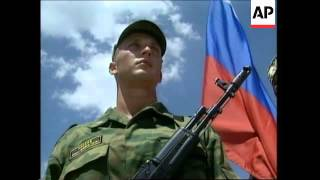 Russian peacekeepers leave