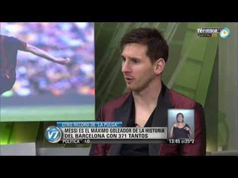Visión 7: Nuevo récord de Messi, máximo goleador en la historia del Barcelona