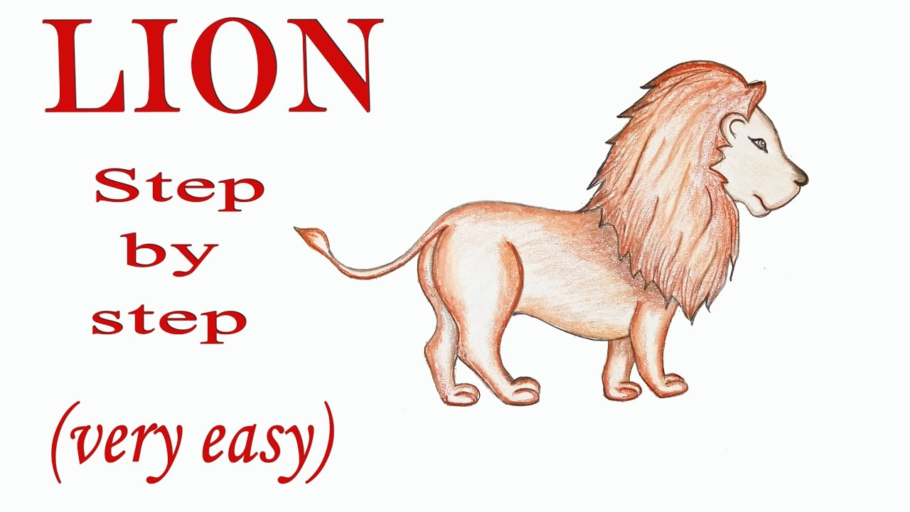 How to draw a lion step by step very easy