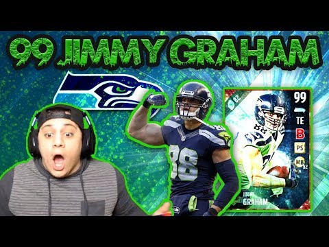 UT JIMMY IS THE BEST RECEIVER IN THE GAME! (99 JIMMY GRAHAM GAMEPLAY) - MADDEN 17 ULTIMATE TEAM