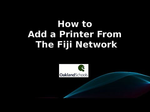 How to Add a Printer From The Fiji Network