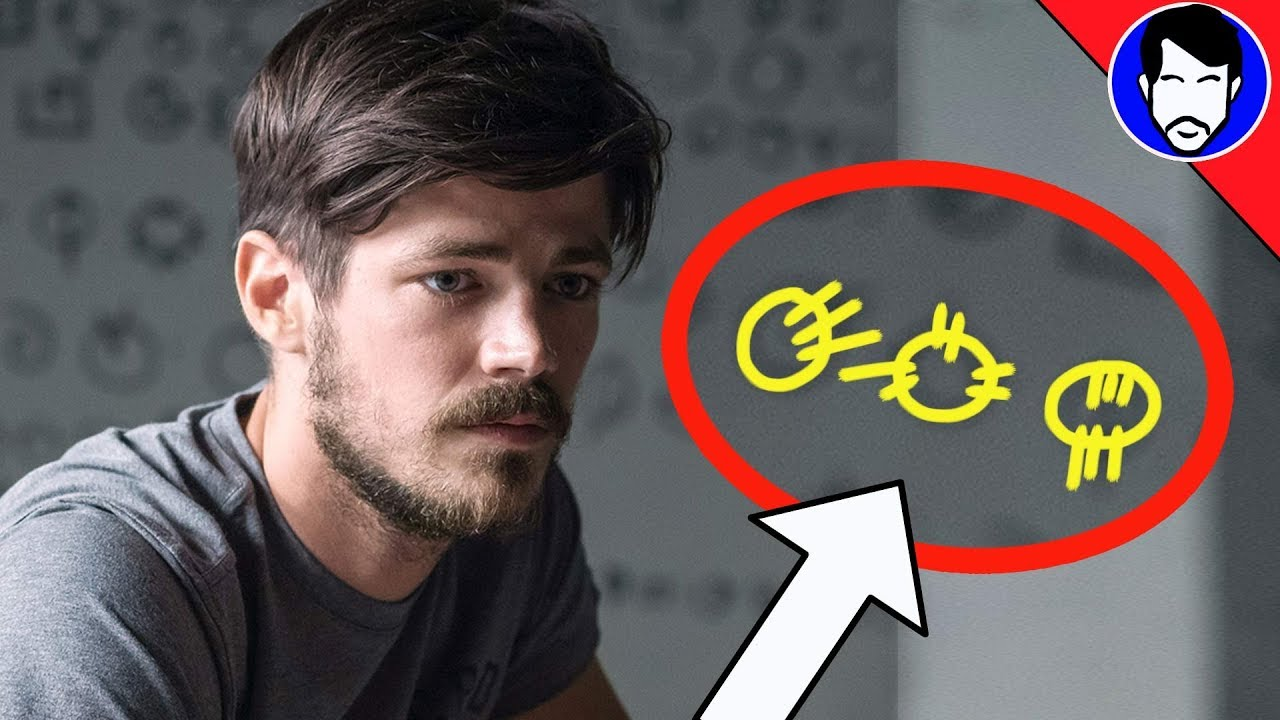 The Flash Season 4 Theory What Does Barrys Speed Force Writing