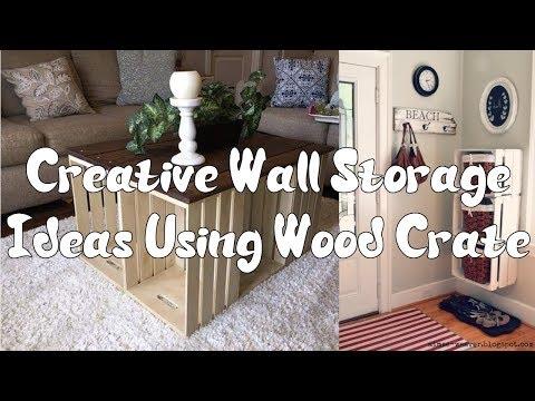 [Furniture] 5 Creative Wall Storage Ideas Using Wood Crate
