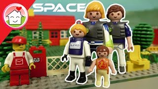 Playmobil Lego Film - Familie Hauser im Weltall -  Geschichte für Kinder