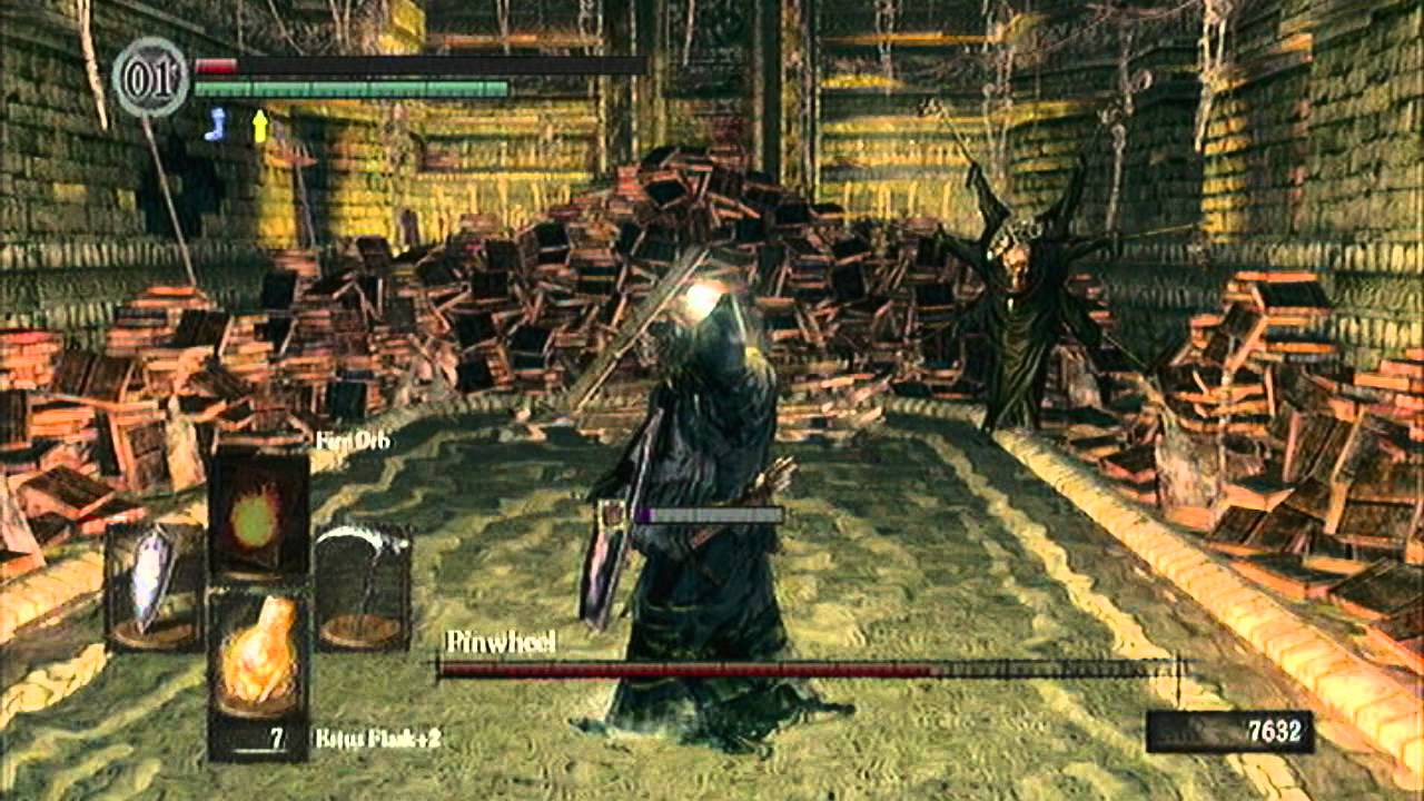 how to get to and fight pinwheel dark souls
