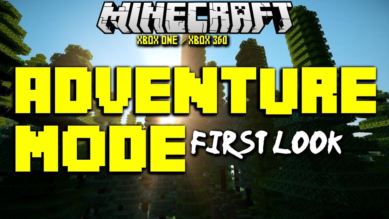 MineCraft Adventure Mode First Look Xbox One & Xbox 360 Tutorial TU19 Title Update 19 Gameplay