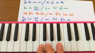 Melodika da Benim Annem Güzel Annem Müzik öğretmeni eşliğinde çalışılması
