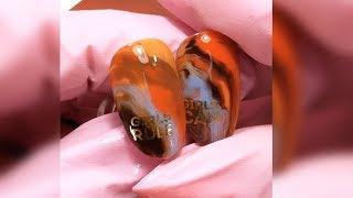Дизайн ногтей разводы гель-лаком