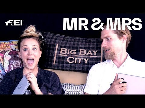 When a quiz threatens your marriage :-D Kaley & Karl play MR & MRS   Longines FEI Jumping World Cup™