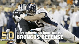 Broncos Defensive Super Bowl 50 Highlights | Panthers vs. Broncos | NFL