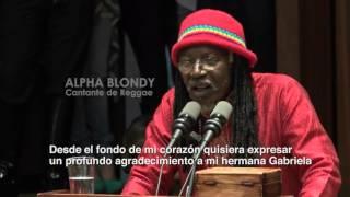 """Alpha Blondy y la Banda de Chalguayacu galardonados con medalla """"Adalberto Ortiz"""""""