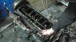 Сложный Nissan Laurel, найдена причина стука двигателя.