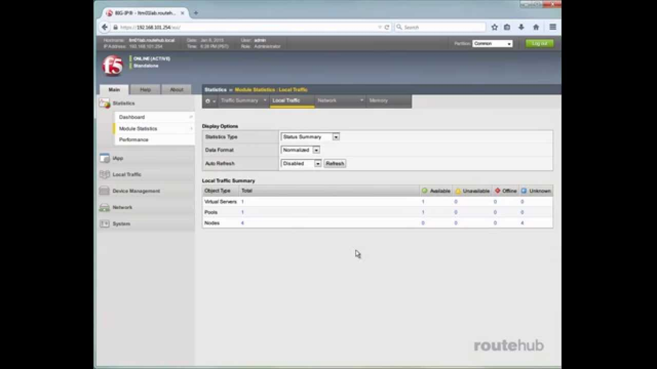 F5 BIG-IP Local Traffic Manager (LTM) Training