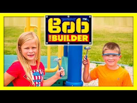 ASSISTANT + BatBoy Uses Bob The Builder Tools to Fix their Playset Funny Kids Video