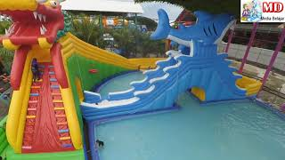 BERMAIN AIR, ISTANA BALON - KOLAM RENANG | Cover TANAH AIR versi Oklik | Waterpark WaterSlide Gofun
