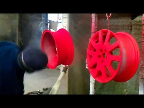 Powder Coating wheels like a BOSS Ral 3020 with pearlscent laquer