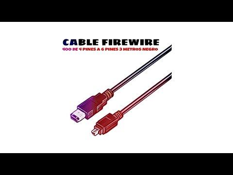 Video de Cable FireWire 400 de 4 pines a 6 pines 3 M Negro
