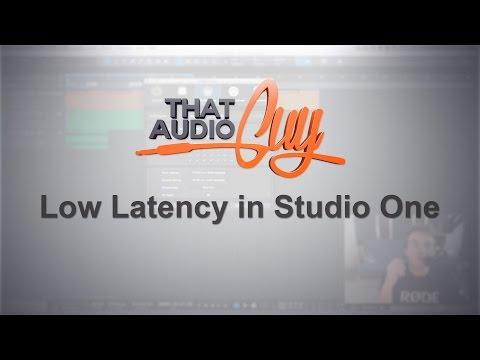 Low Latency In Studio One
