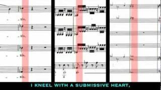 Mozart and Salieri compose a Requiem together from Amadeus. Confutatis K.626 - Scrolling Score