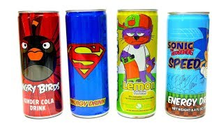NEW Soft Drinks - Angry Birds Superman and Sonic Energy Drink