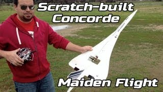 Maiden Flight of the Concorde - Scratch-built RC