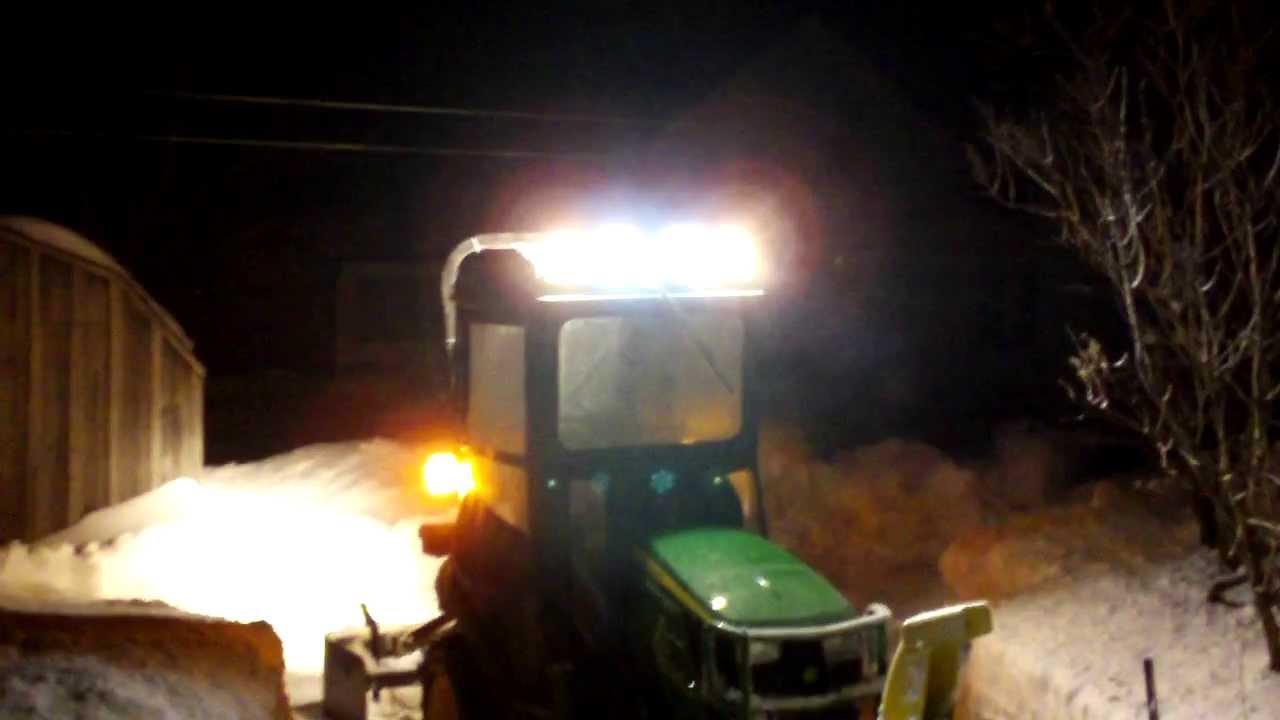 John Tractor Night Lights : John deere r original tractor cab lights at night