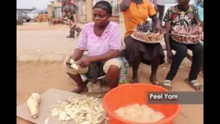 "Nigerian Street Food - ""Dundu"" (Yam Fries)"