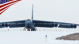 【成層圏の要塞】B-52爆撃機・冬の離陸