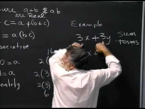 Lecture 01: Math 020 Pre Algebra