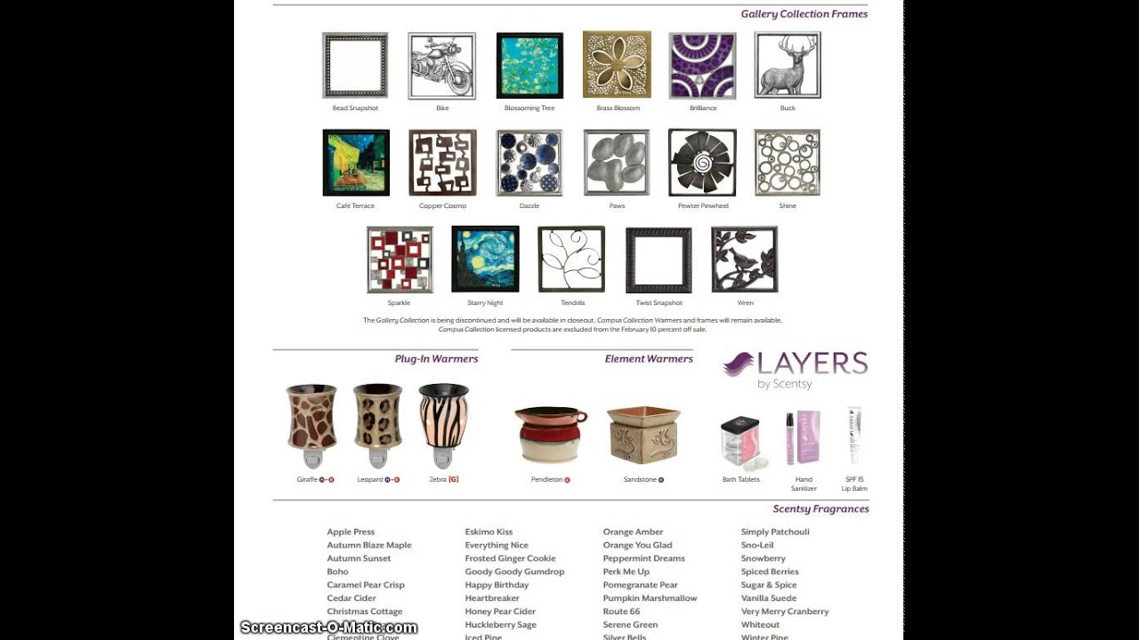 Scentsy Fall Winter 2014 Discontinued Items as of March 1st 2015 ...