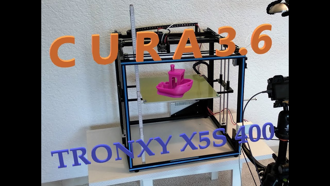 Tronxy X5S 400 - Cura 3 6 - compare to Anet A8 [GER, ENG Sub)