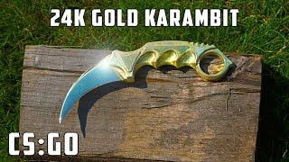 Casting golden CS:GO KARAMBIT worth $30,000
