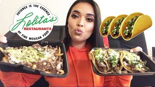 CARNE ASADA FRIES + TACOS MUKBANG! MEXICAN FOOD EATING SHOW