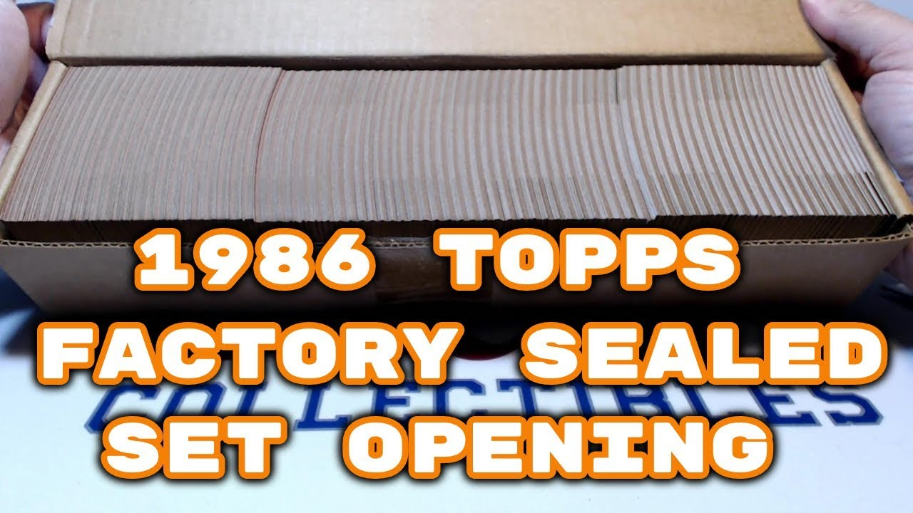 1986 Topps Baseball Cards Factory Sealed Set Unboxing Bbce