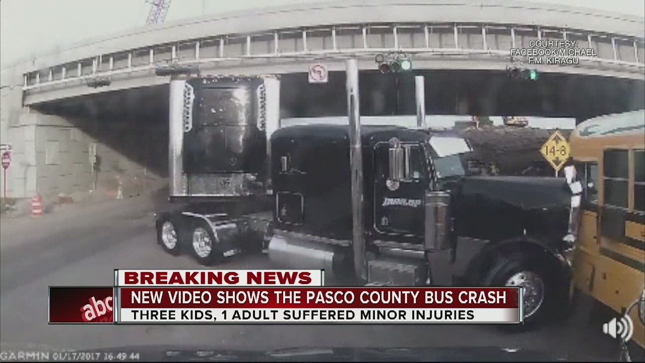 New video shows the Pasco County bus crash
